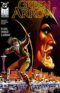 For sale green arrow 1 dc comics 1988 mike grell artwork speedy black canary emorys memories. Comic Book Characters, Comic Character, Comic Books Art, Comic Art, Book Art, Green Arrow Comics, Arrow 1, Arrow Black Canary, Comic Book Covers