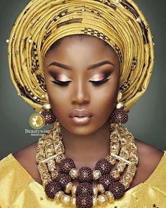 Mua @beautywise_bola Beads @Electrifybeads #beautiful #beautywise #nigerianwedding #weddaily #weddingmakeup #Electrifybeads #bellanaijaweddings #africanbeauty #flawless_instafashion #africansweetheartweddings #asoebiafrica #asobibella