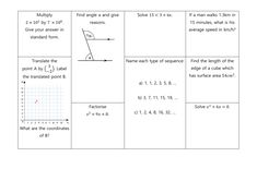 GCSE Non Calculator Revision Mats: Higher and Foundation Gcse Revision, Standard Form, Student Work, Grade 1, Calculator, Mathematics, Read More, Teaching Resources, Foundation