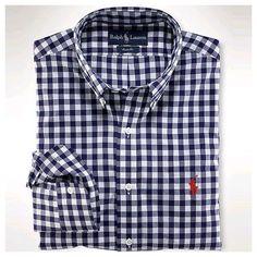 Ralph Lauren Shirt · Chemise, Chemise Blanches Pour Homme, Chemise Vichy, Bleu  Marine, Chemises Personnalisées, 3c03ea6c3663