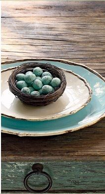 Robins Egg Blue Place setting