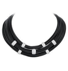 ♥ #Holiday #Specials including #gifts under $200 ~ #BelleEtoile exclusively at #Capri #Jewelers #Arizona ~ http://www.caprijewelersaz.com/Belle-Etoile/35600001/EN ♥ Legato Black Necklace by Belle Étoile. #belleetoile #necklace