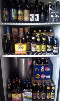 Every garage/man cave should have a beer fridge full of tasty craft brews.