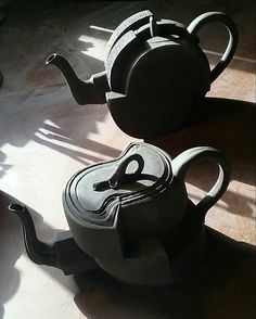 Teapots inspired  by industrial concepts