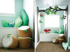 Woodland Playroom: Trees Reading Nook-- Design Loves Detail
