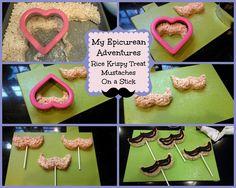 My Epicurean Adventures: Rice Krispy Treat Mustaches On A Stick