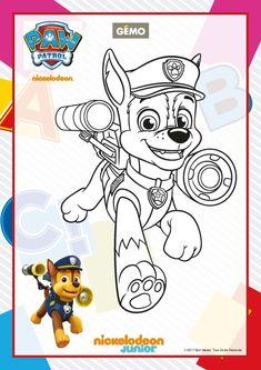 Paw Patrol Ausmalbilder - Schäferhund Chase Paw Patrol Coloring Pages, Baby Coloring Pages, Coloring Pages For Kids, Coloring Books, Disney Princess Coloring Pages, Disney Princess Colors, Imprimibles Toy Story Gratis, Bear Girl, School Decorations