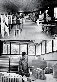 The factory in Turku, Finland, where Alvar Aalto's original designs from the '30s are still produced today.