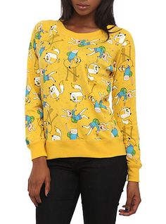 Adventure Time Reversible Pullover Raglan Top Plus SizeAdventure Time Reversible Pullover Raglan Top Plus Size,