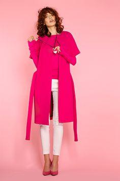 #furelle #furellefashion #furellestyle #style #fashion #designer #fashiondesigner #takaja #beyourself #woman #womanfashion #fashionity #womanity #womanhood #takaja  #springsummer #2017 #colors #lovetocolor #feminine #woman #withlovetocolors #pink #fuchsia # Elle Fashion, Womens Fashion, 2017 Colors, Colours, Duster Coat, High Neck Dress, Feminine, Spring Summer, Pink