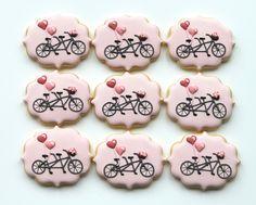 Tandem bicycle cookies by Miss Biscuit