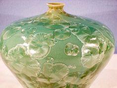 Crystalline Glaze Porcelain Vase Bright by MorganHarrisPottery