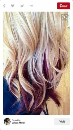 Blonde With Burgundy Color I Love Hair Pinterest