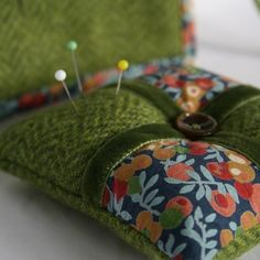 A very pretty pincushion made with Liberty print Wiltshire Berry (blogged at Tea with Martha)