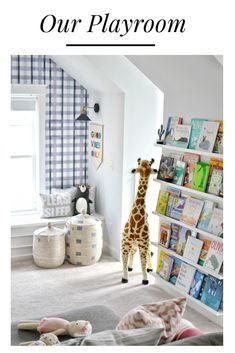 Take a look at this playroom that works for toddlers and teens! Colorful and playful enough for toddlers, and cool enough for a teen hang out. Loft Playroom, Toddler Playroom, Playroom Organization, Playroom Design, Playroom Decor, Home Wall Decor, Modern Playroom, Toddler Rooms, Play Room Kids
