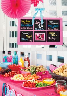 Love all the veggies  A Fabulous Flamingo First Birthday Pool Party