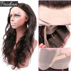 Brazilian Body Wave Pre Plucked 360 Lace Frontal With Baby Hair Remy Human Hair