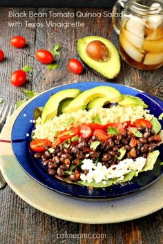Black Bean Tomato Quinoa Salad with Texas Vinaigrette- Protein packed with super foods