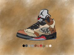 Supreme Camo 5. Thank you all for the feedback on the recent sneaker art I've been posting. Much more to come including Atmos AM1's Beluga V2's Bred 1's and more!