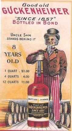Guckenheomer Rye Bottled in Bon ad BOTTLES, BOOZE, AND BACK STORIES: The Return of Uncle Sam, Whiskey Salesman