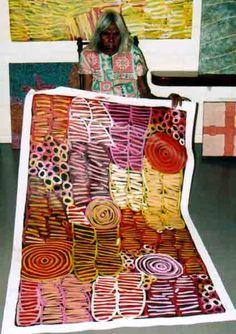 Minnie Pwerle, Galeria Aniela the world's local fine art gallery Contemporary Australian Artists, Indigenous Australian Art, Indigenous Art, Aboriginal Patterns, Aboriginal Culture, Aboriginal Painting, Aboriginal Artists, Australian Aboriginals, Textiles