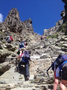 The view up the chimney on the Canigou
