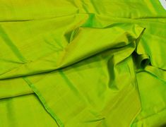 Green Apple Mulberry Silk Fabric/100% Pure Silk Fabric, plain silk fabric made with handloom, Fabric by the yard. by TheSLVSilks on Etsy Dupioni Silk Fabric, Raw Silk Fabric, How To Dye Fabric, Cool Fabric, Scarf Curtains, Natural Protein, Silk Bedding, Mulberry Silk