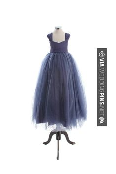 Love this - Capped sleeve ball gown tulle flower girl dress; I like the style, but not the color so much. | CHECK OUT MORE GREAT FLOWER GIRL AND RING BEARER PHOTOS AND IDEAS AT WEDDINGPINS.NET | #weddings #wedding #flowergirl #flowergirls #rings #weddingring #ringbearer #ringbearers #weddingphotographer #bachelorparty #events #forweddings #fairytalewedding #fairytaleweddings #romance