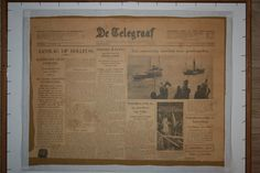 Newspaper  AW Verhorst 1933 IJssel at Kampen The Netherlands