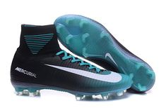 b4724d587e1c Cheap Men Nike Mercurial Superfly V FG Black Jade White Nike Football Boots