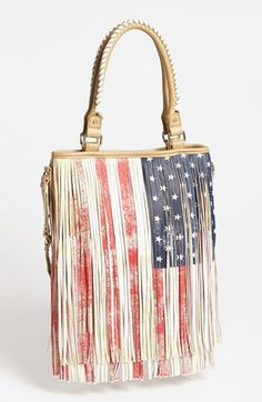 Steve Madden 'American Flag' Fringe Tote available at #Nordstrom   Shoptopia #YOUtopia ENTER TO WIN: https://www.facebook.com/Shoptopia/app_121509864600845