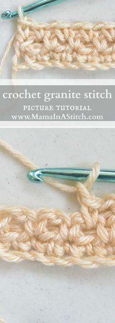 How To Crochet the Granite or Moss Stitch via @MamaInAStitch This is one of my all time favorite crochet stitches and it's so easy. Picture tutorial and patterns to go with it.
