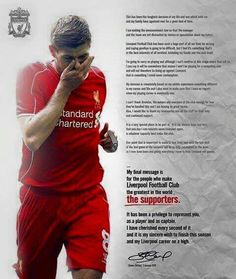 Steven Gerrard statement on leaving Liverpool at the end of the season Liverpool Champions, Liverpool Football Club, Liverpool Fc, Liverpool Players, Steven Gerrard Liverpool, Stevie G, France Football, Liverpool Legends, This Is Anfield