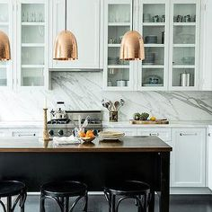 Stanley Copper Pendants, Transitional, kitchen, Lonny Magazine