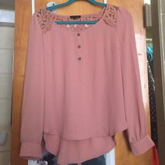 Cute Blouse! Good condition! Kind of a tan/light pink color Local Boutique  Tops Blouses