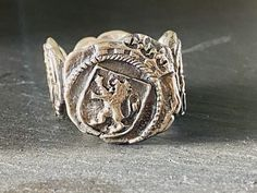 DAVID YURMAN Shipwreck Coin Ring For Men size 10 by YourbestbuysCo on Etsy