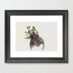 Hair II Framed Art Print by The White Deer - $38.00