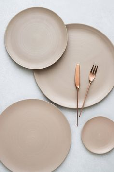 Minimale, Sand | Anders Flatware, Brushed Copper