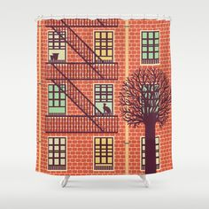 the+fly+(day)+Shower+Curtain+by+Freshinkstain+-+$68.00