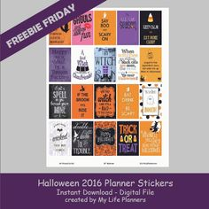 This week's Freebie Friday is featuring Halloween.  It's time to get your spook on. Halloween is a fun time of year to dress up and be someone else for the day. I felt like such a little kid again playing with the Halloween stickers when I was planning out the week. If you haveRead More