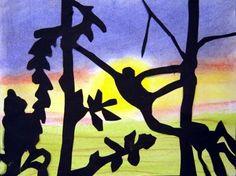 in the jungle  silhouette-4