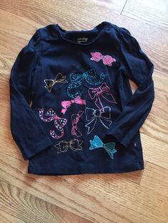 Black Long Sleeve Baby Gap Shirt Size 4 4T Bows | eBay