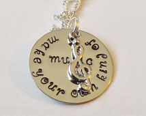 Make your own kind of music necklace