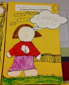 A kindergartener's goal for the upcoming school year (via and Squires Squires Magalhaes) Classroom Rules, Future Classroom, School Classroom, Classroom Ideas, Beginning Of The School Year, First Day Of School, Educational Activities, Book Activities, September Themes