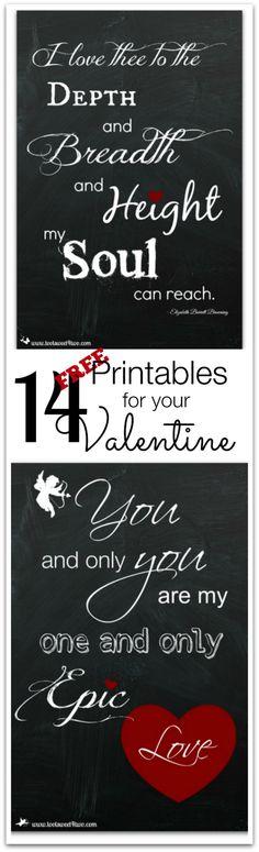 14 FREE Printables f