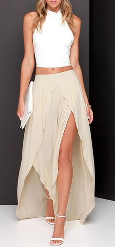 Along the Riviera Beige Pants