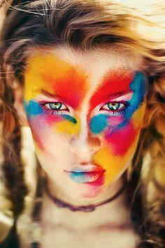poww. paint. color. girl. love.