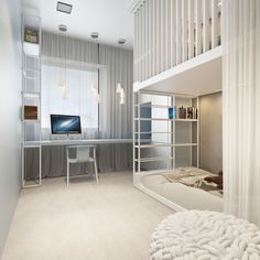 Townhouse by Igor Sirotov Architect Cool Kids Bedrooms, Kids Bedroom Designs, Kids Room Design, Awesome Bedrooms, Bedroom Loft, Bedroom Decor, House Beds, Apartment Interior Design, Living Room Lighting