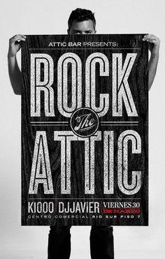 Attic Bar Loft Typography design inspiration