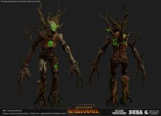 ArtStation - Total War : Warhammer - Dryads/ Branchwraith, Crystel Land